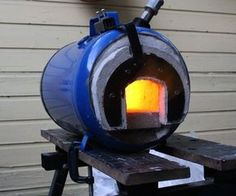 In this Instructable I show you how to make a high efficiency propane forge. I have made a few forges so I have a good idea how they go together but I will give reference and credit to Ron Reil and his designs, that is where I learned how to build them over 12 years ago.This forge can be used for knife making, blacksmithing, glass making or anything else you can think of that requires heating up stuff to a really hot temperature.I have access to a welder so I was able to weld some parts…