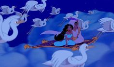 Aladdin and Jasmine. A whole new world