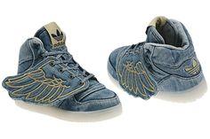 Denim Jeremy Scott Wings! #sneakers