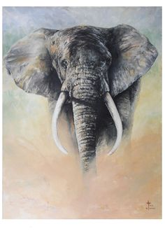 elephant acrylic painting - Google Search