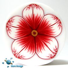 Red and white flower cane by Mars Design | Flickr - Photo Sharing!