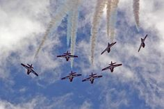 Canadian Air Force Snowbirds at the Wings over the Sault airshow