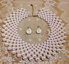 """Two-needle weave with """"Pearls only"""" ~ Seed Bead Tutorials"""