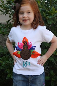 Thanksgiving Turkey Shirts by SheShe Made. www.sheshemade.com or SheShe Made on facebook