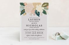 """""""Classic Floral"""" - Floral & Botanical Foil-pressed Wedding Invitations in Spring Blush by Alethea and Ruth."""