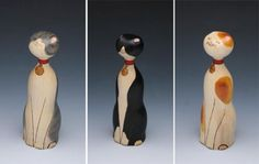 Japanese Kokeshi Dolls Customized For Your Moderncat / moderncat :: cat products, cat toys, cat furniture, and more…all with modern style on imgfave