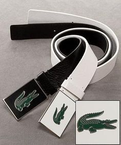 569bf9cceb77e5 Lacoste Logo Leather Belts