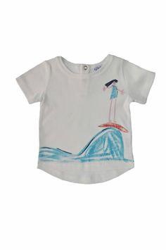 Painted cotton T-shirt  Scarabocchi di Patipò