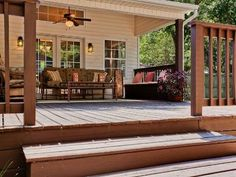 Nice little back porch. Perfect for cooking out. #design #home #architecture