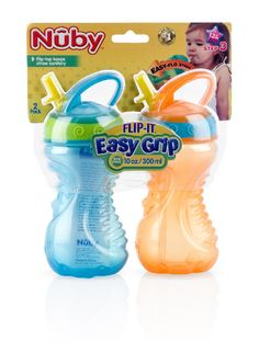 2-Pack 10 oz. Flip-and-Tip Hard Straw Cup Case Pack 24