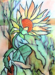 Following tutorial from Karlyn Holman in the book 'Watercolor, making your mark'