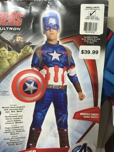 Captain American Child Costume Dress Up Size 4-6 Toddler Avengers Mask bootcover #Rubies #CompleteOutfit