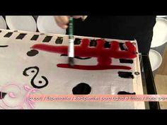 Aprenda a pintura em seda com estampa geométrica! - YouTube