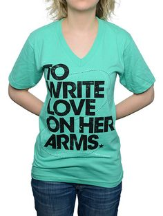 To Write Love on Her Arms Official Online Store - Big Title V-Neck possible birthday or other gift pretty color and great cause a nonprofit organization for suicide prevention