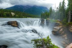 Athabasca Falls - Jasper National Park, Canada  www.absolutevisit.com