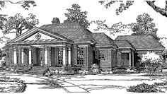 Country House Plan with 1956 Square Feet and 3 Bedrooms from Dream Home Source | House Plan Code DHSW72715