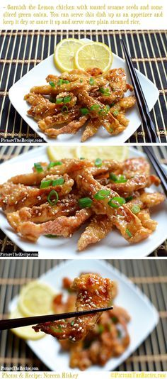 "Lemon Chicken (Chinese Style) -- I just made myself this for supper and it was ""off the chain"" better than take out!! && incredibly easy."