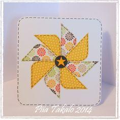 Fiskarettesien tekemää : Pinwheel -kortti » Fiskarettes FI