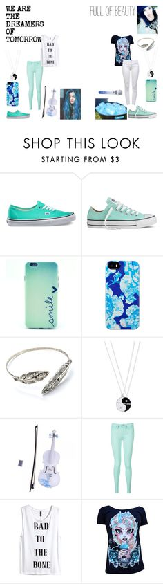 """""""Blue Sisters"""" by shy-love ❤ liked on Polyvore featuring Vans, Converse, Isaac Mizrahi, Monsoon, Rosin, Rachel, Tommy Hilfiger, H&M, Disney and J Brand"""