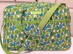 Vera Bradley GRAND TRAVELER LIME'S UP LEAVES Luggage Bag Weekender Duffel NWT