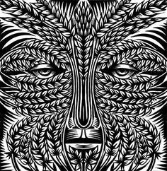 Stunning Spiritual Art - Q. Cassettis Green Man Studies Features Amazing Tribal Designs (GALLERY)