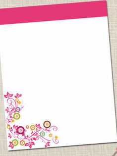 New to fudemori on Etsy: Premade Letterhead Template Editable Pdf Hot Pink Floral No.2  A4 or 8.5  x 11 (6.75 USD)