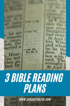 Grow in faith and learn to read the Bible on your own! Use these 10 free Bible reading plans to help you study the Bible, even as a beginner! || Sarah E. Frazer