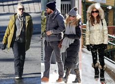 These celebs are surviving the winter in their Sorel Boots too! Find Sorels at FootStock! FootStockShoes.com