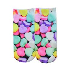 1 Pair BOY&Girl's 3D Cute Candy Foods&Flowers Printed Multiple Colors Unisex Cotton Ankle Socks Intimate gift