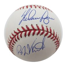 Nolan Ryan and Robin Ventura Signed MLB Baseball Fight PSA/DNA JSA COA