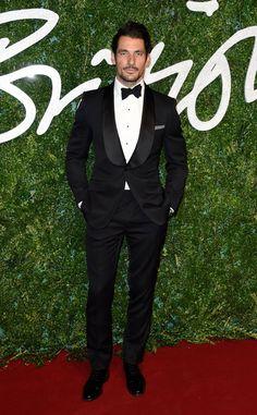Pin for Later: Les Stars Se Sont Mises Sur Leur 31 Pour Les British Fashion Awards David Gandy en Marks & Spencer