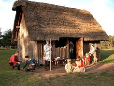 anglo saxons houses