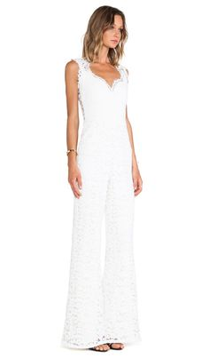 Shop for Alexis Aruba Lace Jumpsuit in Ivory at REVOLVE. Free day shipping and returns, 30 day price match guarantee. Bridal Jumpsuit, Lace Jumpsuit, Revolve Clothing, Wide Leg Jeans, Bell Bottoms, Women Wear, Ivory, Formal Dresses, How To Wear