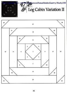 Шаблоны для пэчворка 101 Foundation-Pieced Quilt Blocks 062