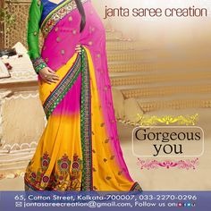 We capture your elegance in a way so that it does justice to who you are! Come and wear our designer sarees to feel elegantly beautiful.