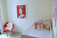 Be sure to see our sassy red baby room. Get more decorating ideas at http://www.CreativeBabyBedding.com