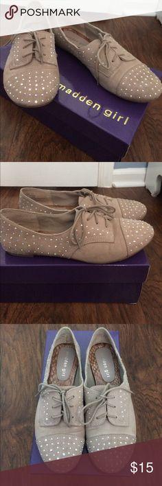 Madden Girl Julissa Flats in Blush Sequined suede Madden Girl flats Madden Girl Shoes Flats & Loafers