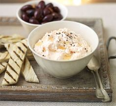 This Greek dip is an original way to use up leftover smoked salmon and works well on a sharing mezze platter