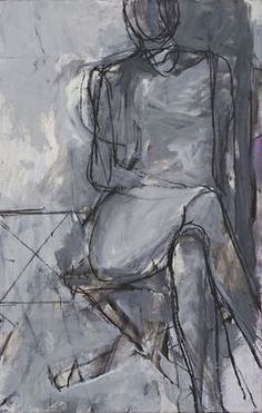 Richard Diebenkorn / Seated Woman / 1966 / synthetic polymer paint and charcoal on board / MoMa Richard Diebenkorn, Figure Painting, Painting & Drawing, Abstract Expressionism, Abstract Art, Bay Area Figurative Movement, Jasper Johns, Life Drawing, Figurative Art