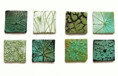 Polymer Clay Nature Tiles by Denise Pettit.