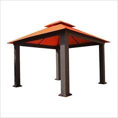 12 x 12 ft. Seville Gazebo with Sunbrella Canopy (Rust Top)