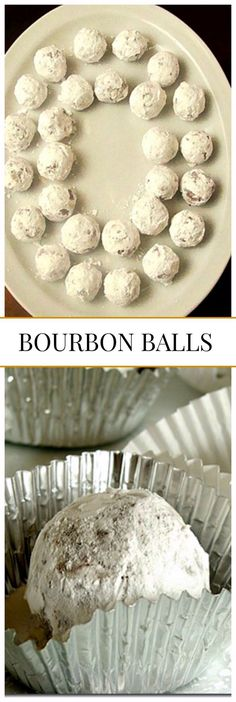 Bourbon Balls - Smooth, delicious, and authentic Kentucky bourbon ball candy. Perfect for a Christmas Tray!