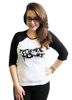 21 Century Clothing MCR My Chemical Romance Women's Baseball Shirt: Amazon.co.uk: Clothing