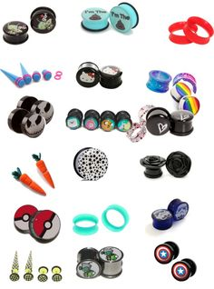 """""""Cool/ Cute Plugs/Fake Plugs"""" by Tapers And Plugs, Fake Plugs, Gauges Plugs, Fake Gauge Earrings, Plugs Earrings, Piercing Tattoo, Body Piercing, Cute Piercings, Female Piercings"""