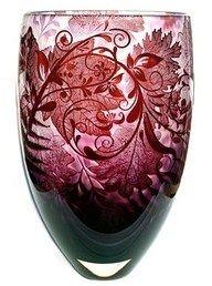 beautiful marsala etched glass