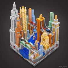 Jeff Friesen builds incredible micro cities using various techniques to portray different styles and time periods. His works pack a large amount of detail into a 20×20 stud footprint that incl…