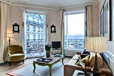 Apartment for rent in Paris - Notre-Dame, Ile St-Louis - 2 bedrooms - Saint Louis Bourbon - Private Homes View of the Seine Paris Apartment Interiors, Paris Apartment Rentals, Dream Apartment, Apartment Living, Ile Saint Louis, St Louis, Apartment Inspiration, Paris Living Rooms, Bourbon