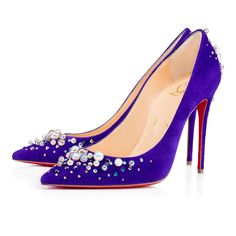 eafbbd52a58 Women Shoes - Candidate 100 Veau Velours Strass - Christian Louboutin  Rhinestone Shoes
