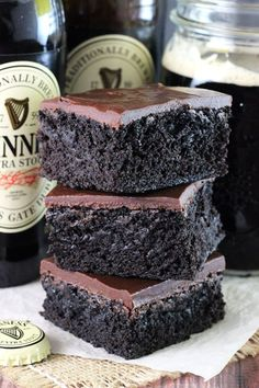 Best Ever Guinness Dark Chocolate Brownies - 4u1s
