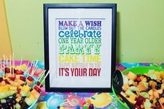 Rainbow Birthday Party Ideas | Photo 2 of 47 | Catch My Party